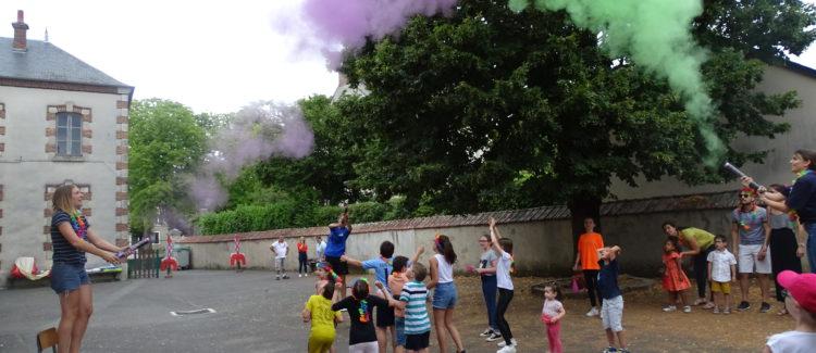 Menetou-Une veillée famille toute en couleur